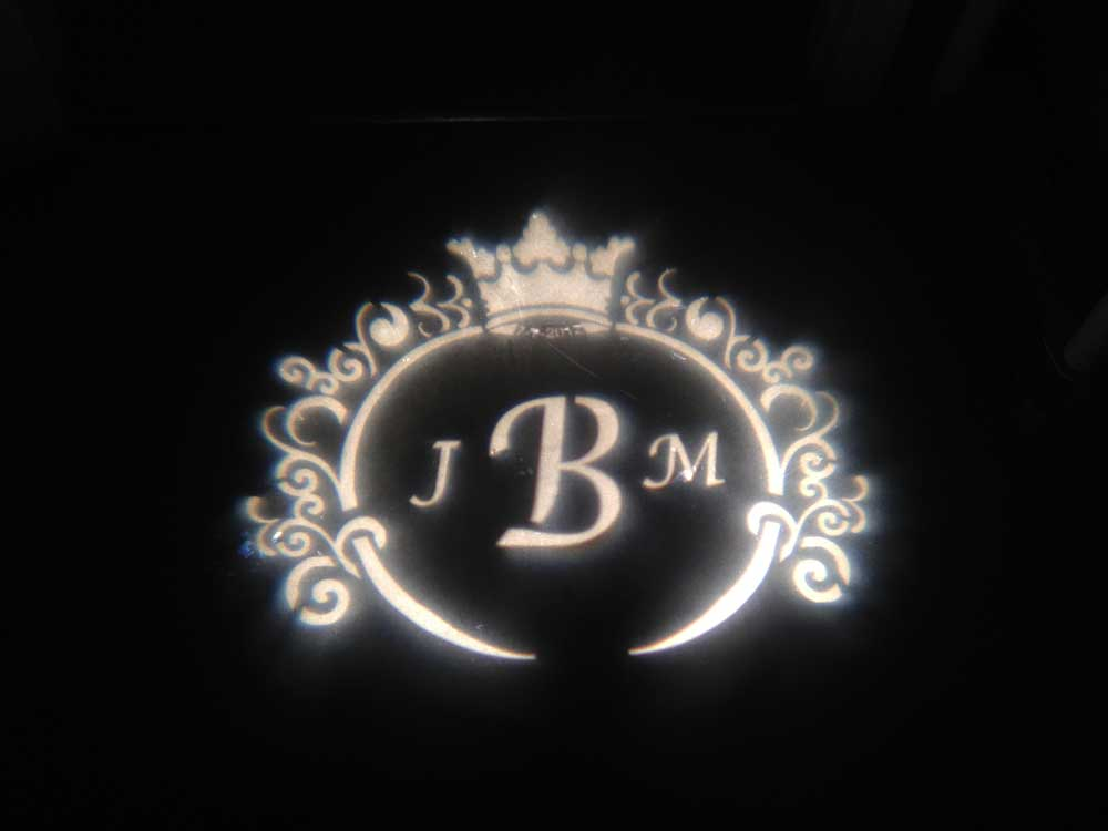 Gobo JBM Custom Lighting Monogram